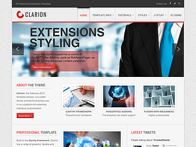 Clarion joomla template joomla professional business template with clarion joomla professional business template flashek Gallery