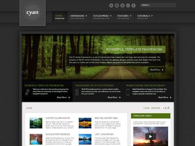 Cyan Joomla Mobile Virtuemart Template