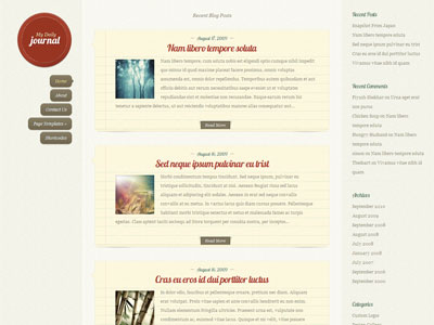 DailyJournal WordPress Personal Blog Theme