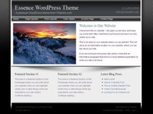 Essence Wordpress Blog Theme