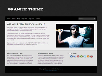 Granite WordPress Blogging Theme