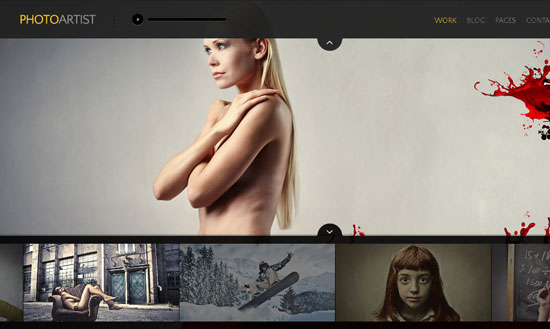 PhotoArtist WordPress Full Screen Theme