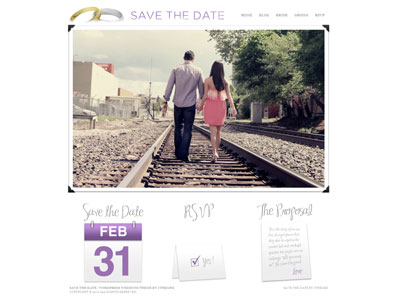 Save the Date WordPress Wedding Theme