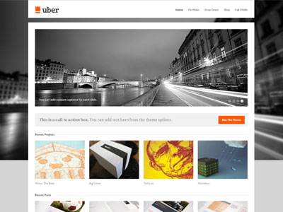 Uber Wordpress Theme | Wordpress Responsive Business Theme for ...