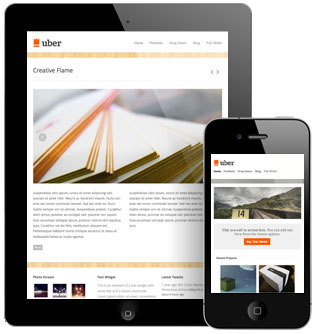 Uber WordPress Responsive Layout Theme