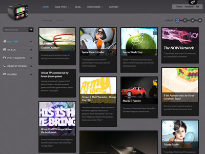 VideoGrid Wordpress Multimedia Theme for Video Games, Portfolio ...