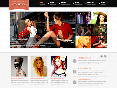 youretro joomla magazine template for joomla 1.5, joomla 1.6, Powerpoint templates