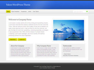 Yukon WordPress Business Theme