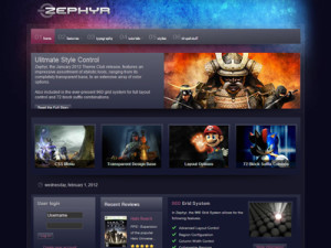 Zephyr Drupal Theme | Drupal Transparent Theme | Drupal 6 & 7 Theme for Video Games & Movies
