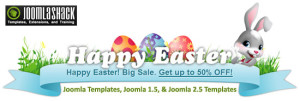 Get Up to 50% Discount Offer on Joomla Templates from JoomlaShack Happy Easter Sale!