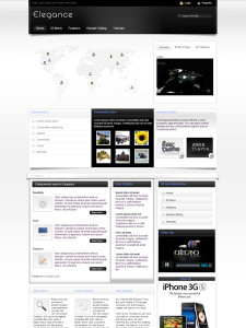 Elegance WordPress Social Theme
