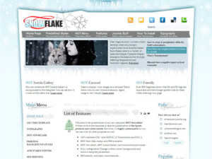 HOT Snowflake Joomla Ski Template