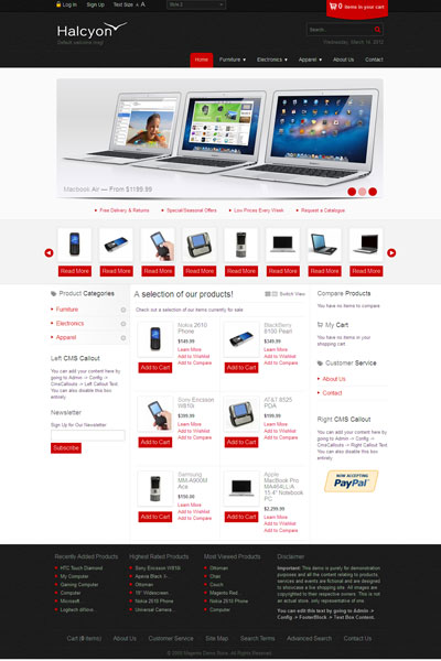 Halcyon Magento Store Template