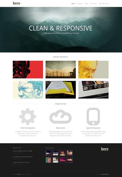 Hero WordPress Responsive Portfolio Theme