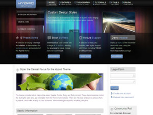 Hybrid Drupal Theme for Web Designers, Corporate Businesses with Community Builder Poll