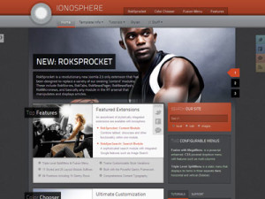 Ionosphere Joomla Template for Sports, Business Magazine with iPhone/Android Viewing Support
