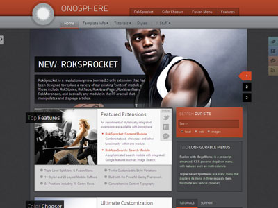 Ionosphere Joomla Sports Template