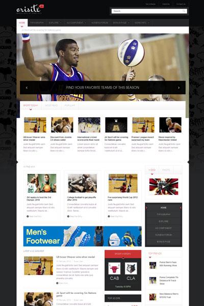 JA Orisite Joomla Sport News Template