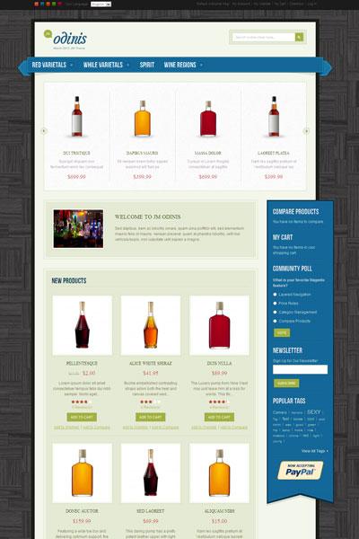 JM Odinis Magento Wine Shop Theme