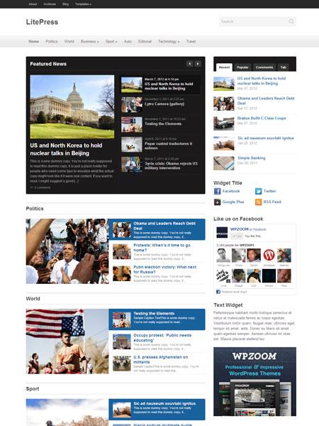 LitePress WordPress Theme for Responsive Online Magazine or News ...