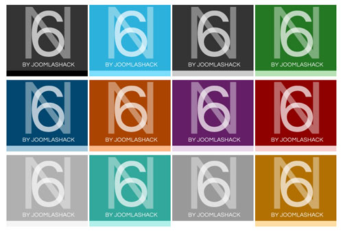 N6 Joomla Template 12 Colors