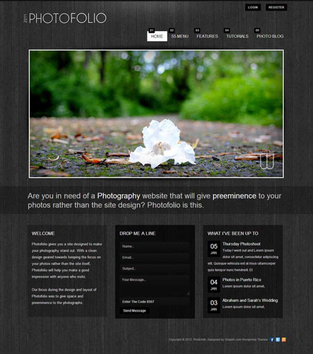 PhotoFolio WordPress Photographers Theme