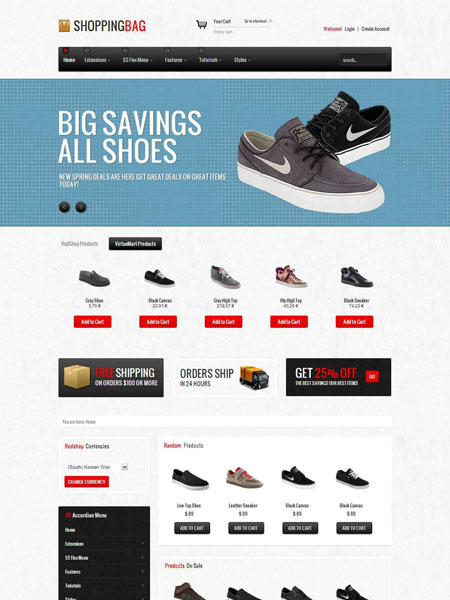 Shopping Bag Joomla eCommerce Template