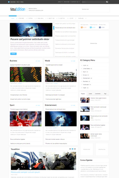 YouEdition Joomla Magazine Template
