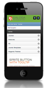 ZT Galosa Joomla Template Mobile View