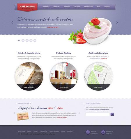 Coffee Lounge WordPress Bar Theme