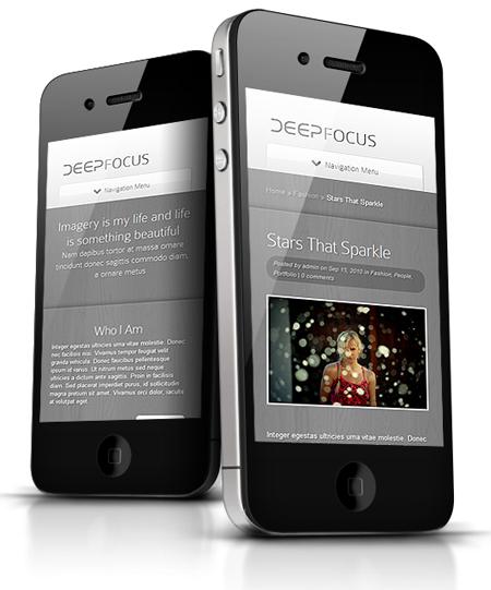 DeepFocus Responsive Theme for iPhone
