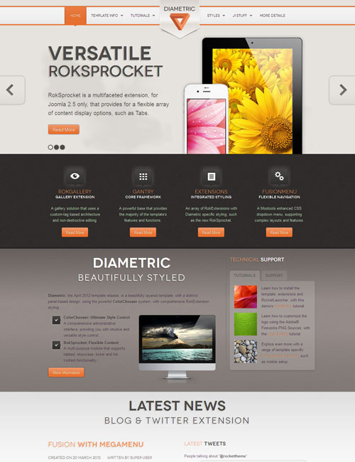 Diametric Joomla Portfolio Template
