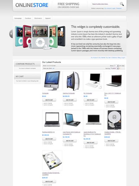 HelloSleek Magento Online Store Theme