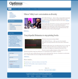 Optimus Free Premium Joomla Template for Clean Business or Blogs