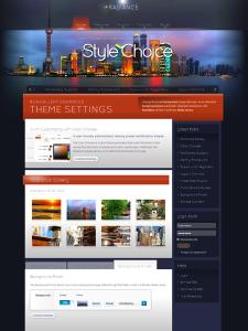 Radiance WordPress Gallery Theme