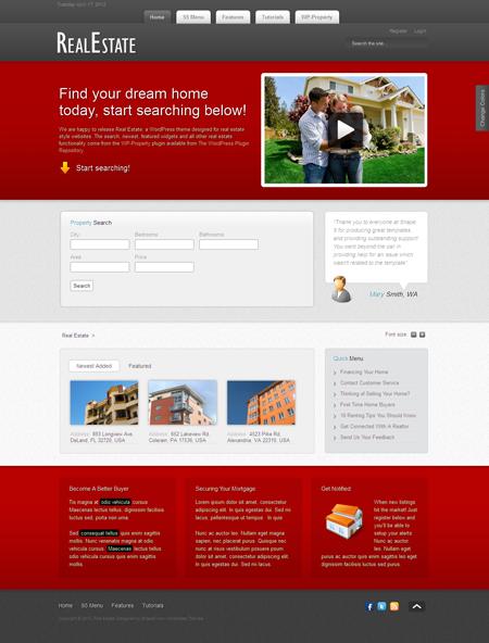 Real Estate WordPress Property Theme
