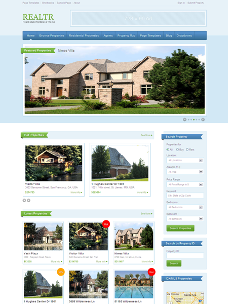 Realtr WordPress Responsive Real Estate Theme with IDX Integration ...