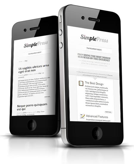 SimplePress WordPress Responsive Business Theme