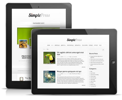 SimplePress WordPress Responsive Tablet Theme
