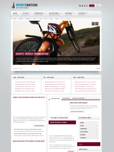 Sports Nation Joomla Template for Sport News & Mobile Device Support