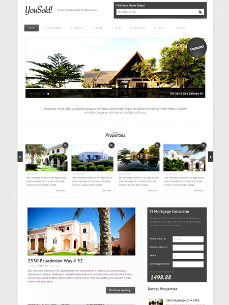 YouSold Joomla Real Estate Template