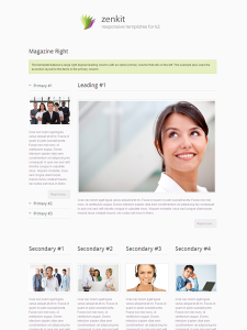 Zenkit Joomla Magazine Layout Template