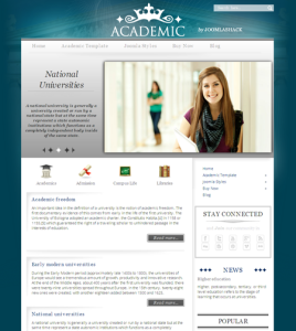 Academic Joomla 2.5 University Template for Academy, Libraries