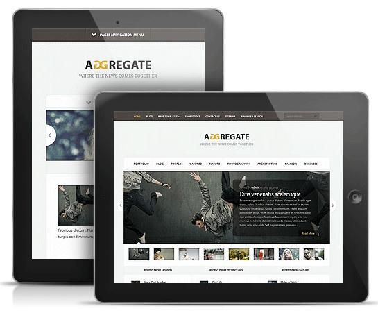 Aggregate WordPress iPad Theme