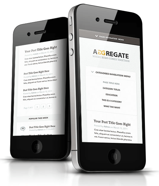 Aggregate WordPress iPhone Theme