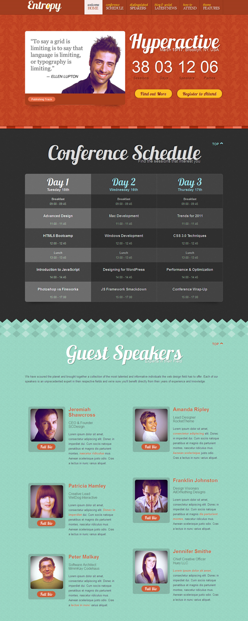 Entropy Drupal Conference Schedule Theme