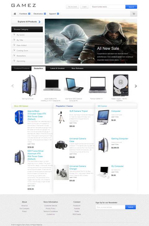 HelloGamez Magento Game Store Theme