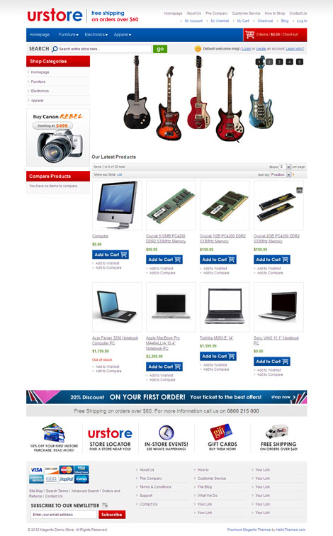 HelloPress Magento eCommerce Theme