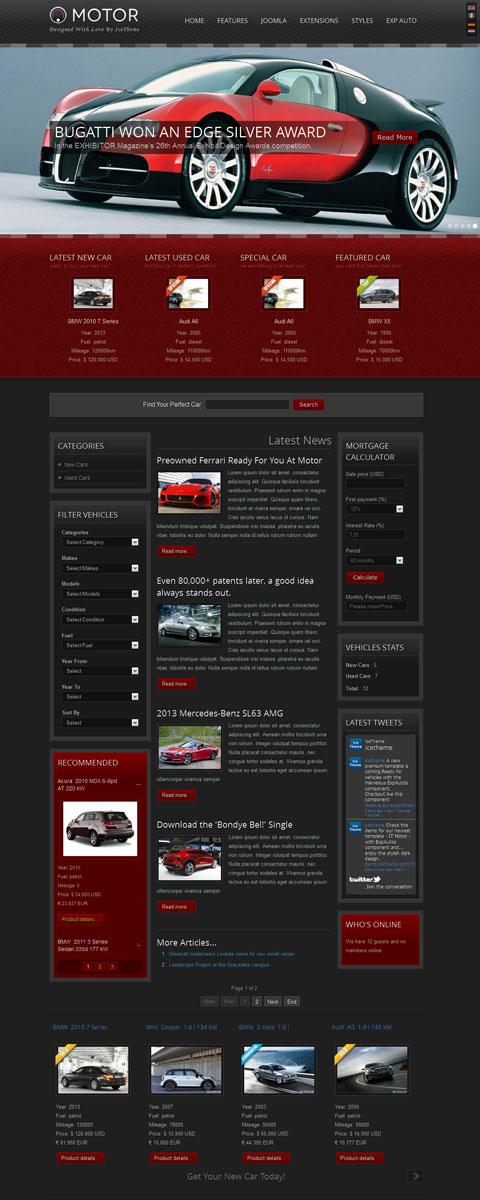 IT Motor Joomla Automotive Car Template