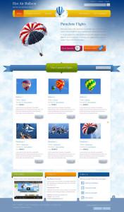 JM Balloon Joomla Parachutes Template
